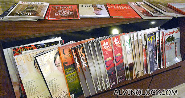 Wide selection of magazines for your reading pleasure