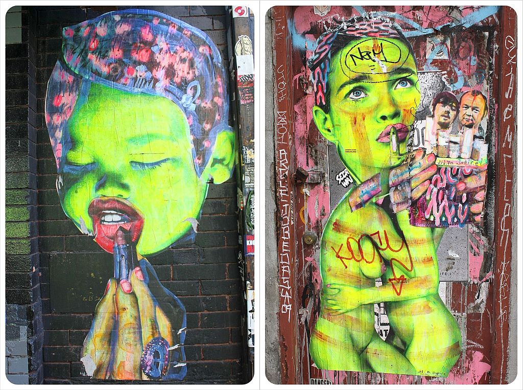 Williamsburg Brooklyn Stencil Street Art