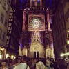 Gothic light show in Strasbourg