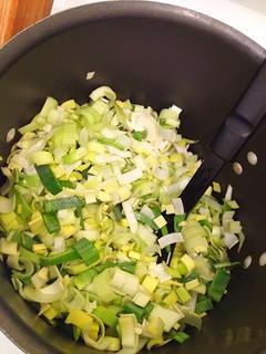 leeks before cooking