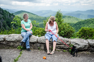 Laura and Amy at Blue Ridge Parkway