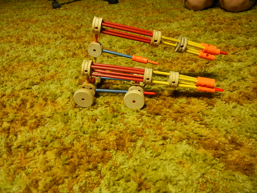 7-8-13 Clark's tinkertoy at Grandpa's house 3