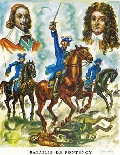 Bataille de Fontenoy (Illustration)