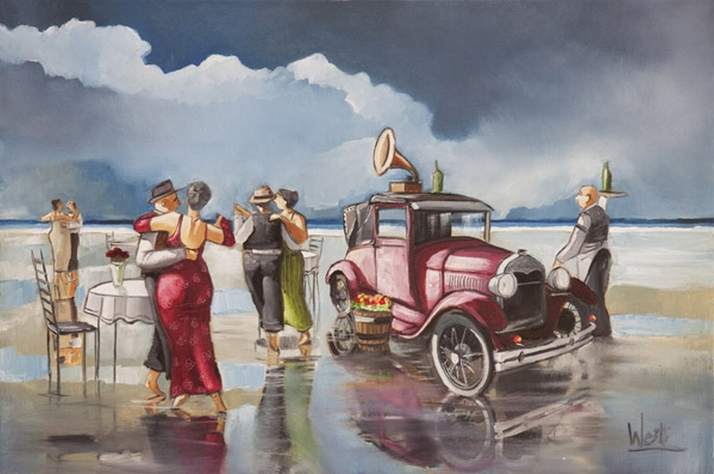 Ronald West S Artwork Is All Vibrant Colours And Love Of