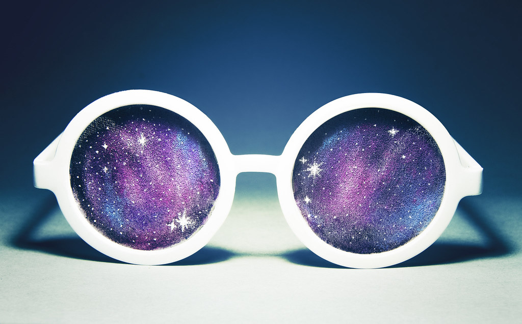 galaxy glasses, space glasses, starry glasses, nebula glasses, nylon glasses