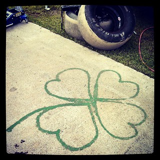 Things spotted at the #racetrack that make me smile #pitstall #shamrock #raceday