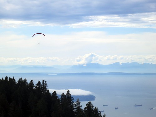 Paragliding over Vancouver
