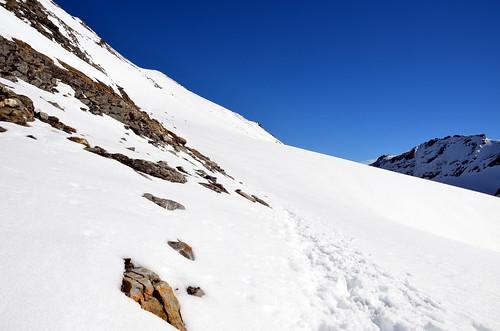 steile gletscherflanke endlich überwunden