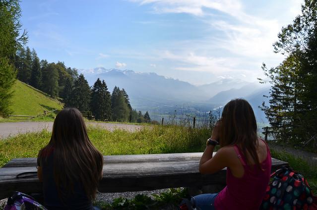 Restaurante con vistas a las montañas en Suiza