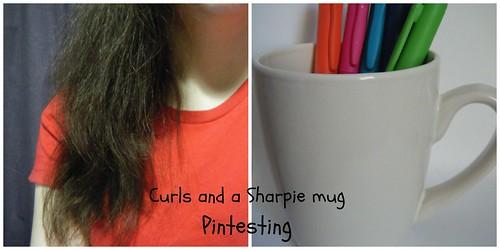 Curls and a Sharpie mug