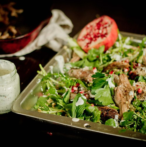lamb, pomegranate & quinoa salad