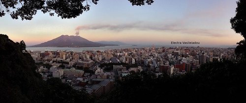 sunset panorama mountain nature japan landscape volcano asia ipod kagoshima 日本 山 kyushu sakurajima 九州 鹿児島 火山 桜島 gettyimagesjapan13q3