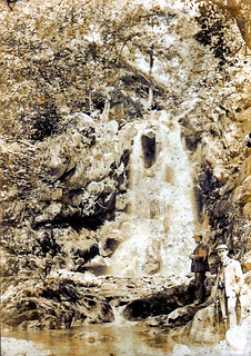 Waterfall in the Valley of Desolation near Bolton Abbey circa 1890