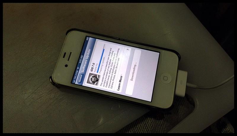Updating Anita's iPhone tonight