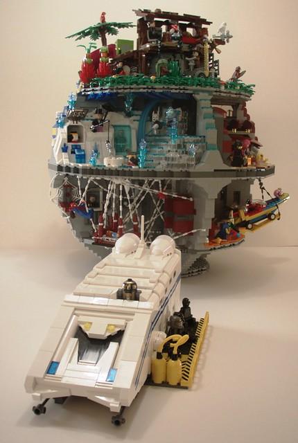 Man Cave Repo : Moc that s no moon it a super heroes station lego