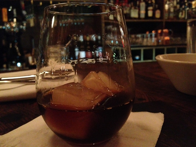 Fernet with kola ice cubes
