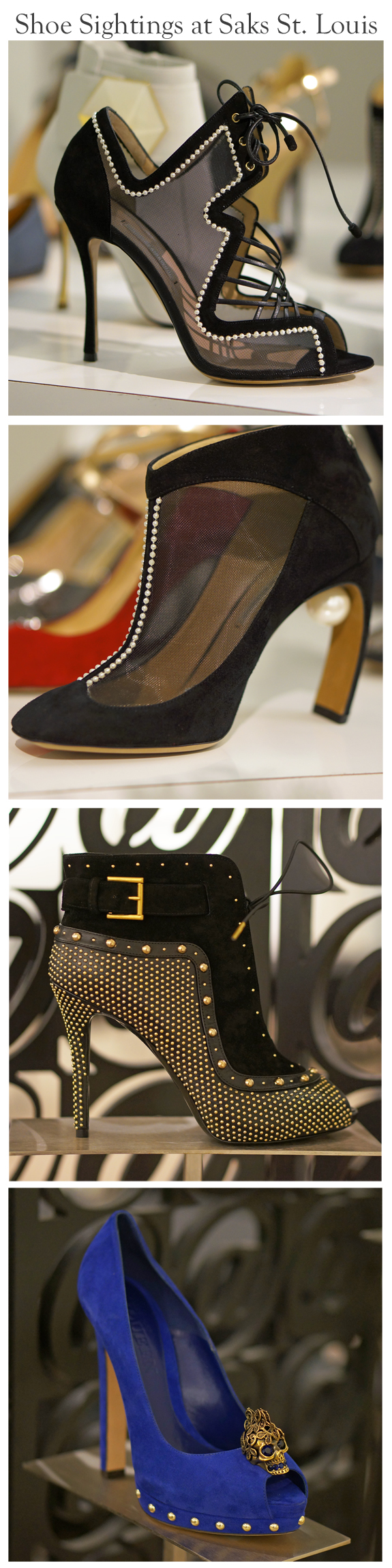 Saks St Louis Shoes, Brian Atwood, Alexander McQueen