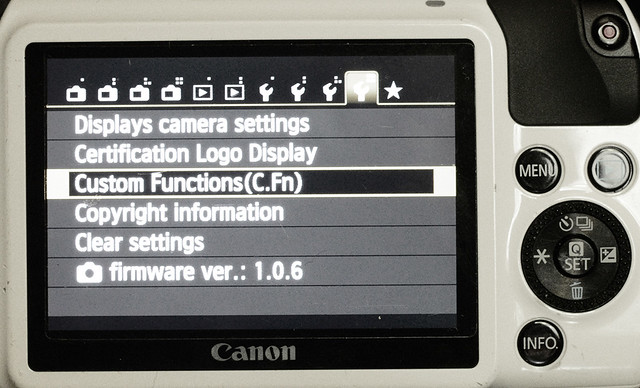 Settings of Canon EOS M for pinhole photography 3/4