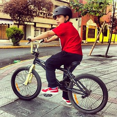 mountain bike(0.0), extreme sport(0.0), stunt performer(0.0), bicycle motocross(1.0), wheel(1.0), vehicle(1.0), bmx bike(1.0), sports(1.0), flatland bmx(1.0), sports equipment(1.0), cycle sport(1.0), bmx racing(1.0), bicycle(1.0),