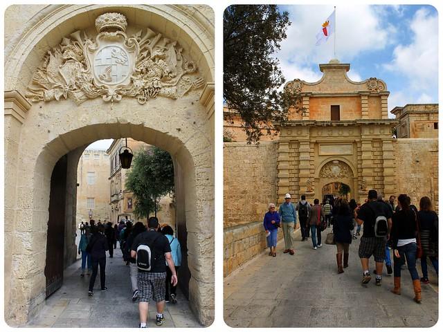Entrance gates Mdina Malta