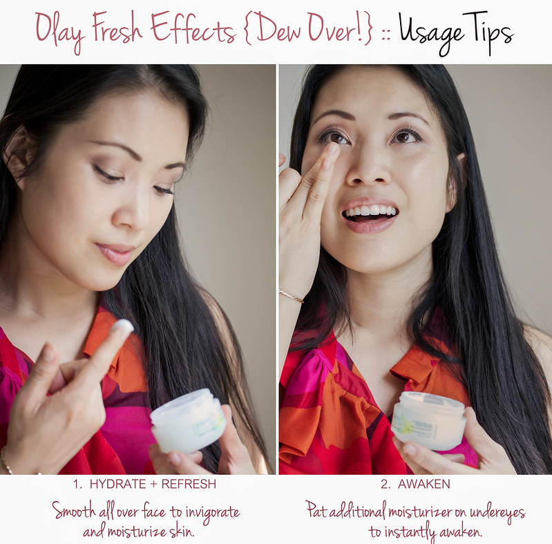 cute & little blog | spring/summer skincare | olay fresh effects dew over review usage