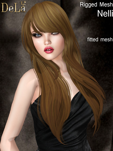 "=DeLa*= Fitted Mesh Hair ""Nelli"""