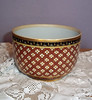 Vintage Enameled Porcelain Small Serving Bowl w/ Gold Gilt