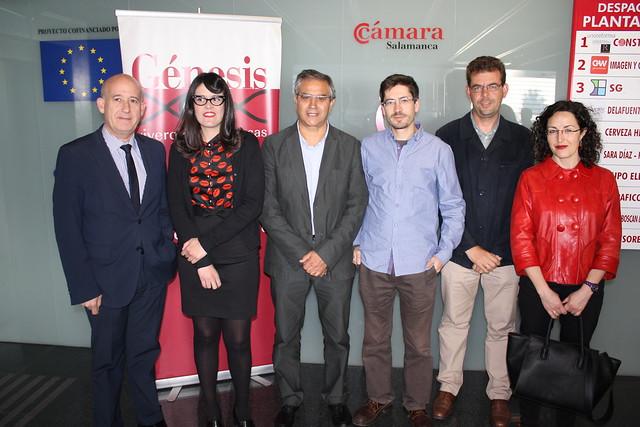 Candidatura de Ganemos Salamanca en el Vivero de Empresas Génesis