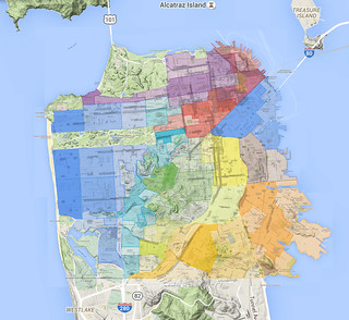 San Francisco Neighborhoods - Realtor's MLS map (sfarmls) May 2015