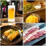 オリオンビール、海ぶどうとしりしり、ラフテー、山羊の刺身(!?)