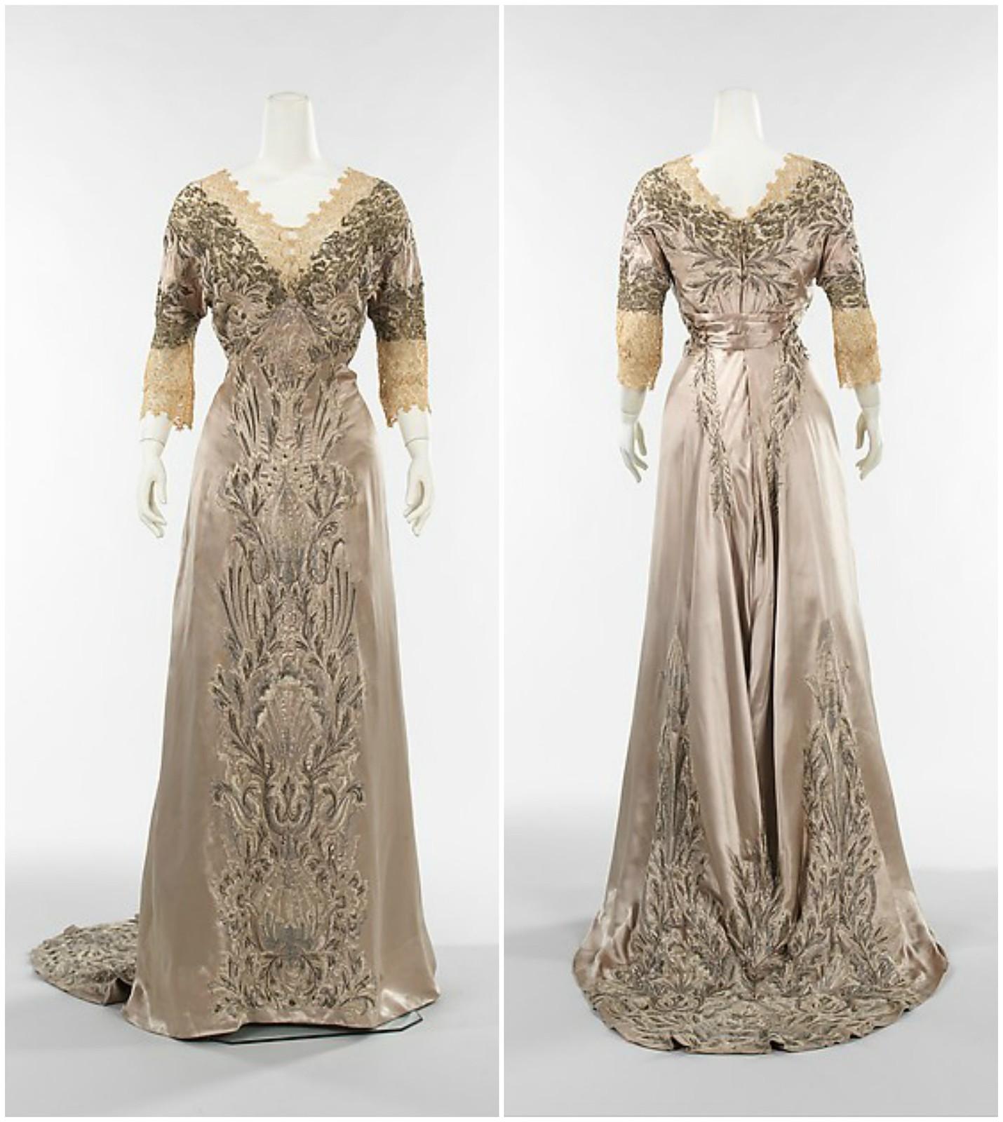 1908 Callot Soeurs. Silk, bead, linen, metal. metmuseum