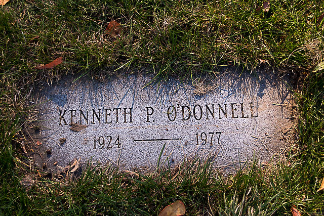 Kenneth P. O'Donnell, Special Assistant to President Kennedy, Holyhood Cemetery, Chestnut Hill, MA, November 14, 2016