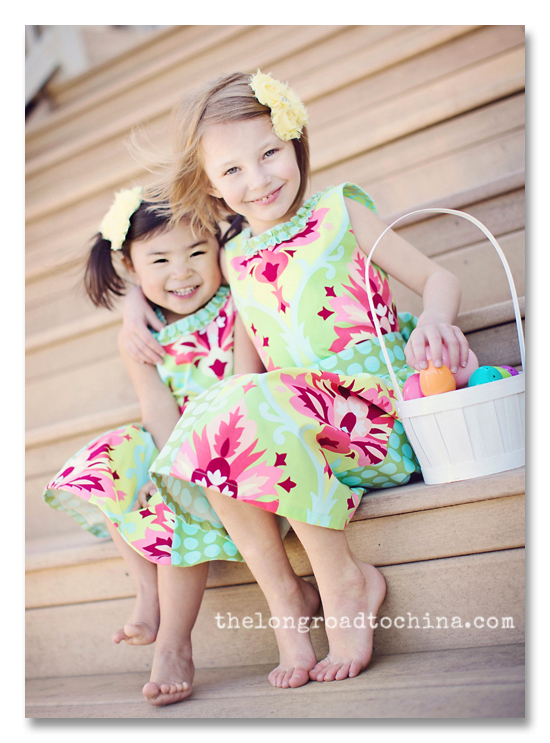 The girls in their Easter Dresses BLOG