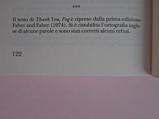 W. H. Auden, Grazie, nebbia; Adelphi 2011 [responsabilità grafica non indicata]. Pagina 122 (part.), 1