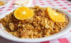meal, breakfast, apple crisp, fruit, food, dish, cuisine,