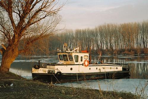 trees winter light sunset film water 35mm river boat grain shore analogue goldenhour tisa mirjana kiev4a
