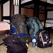 Our last hostel room for the trip, Chris' packs on the left, and mine on the right. San Jose, Costa Rica 08MAY12