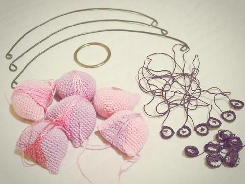 WIP - Corujinhas rosas e roxas