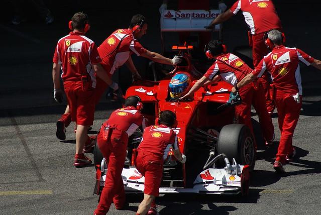 Fernando Alonso FERRARI F2012 056        Formula 1 Day 1 Free practice  GP F1 2012 Spain Circuit de Catalunya  Barcelona   DSC04691e