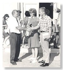 John Riggs Greets Mesa Community College Students in the 1960's