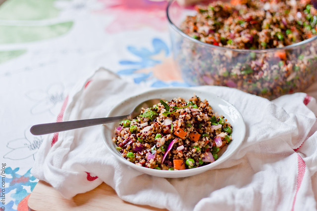 Quinoa with Peas & Carrots
