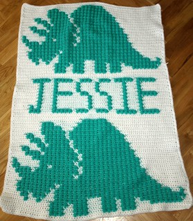Dinosaur Blanket for Jessie