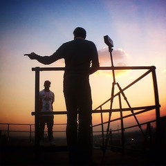 Jozi meets Berlin. #inter_view #jozimeetsberlin #silhouettes #sunset #rooftopping