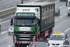 Volvo FH 6x2 Tractor - PX10 DHA - Evelyn Mary - Eddie Stobart - M1 J10 Luton - Steven Gray - IMG_7833