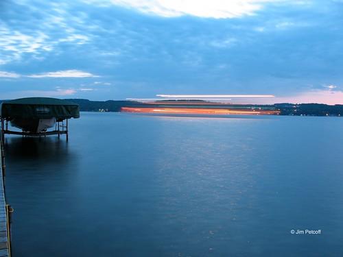lake lady boat long exposure paddle canandaigua