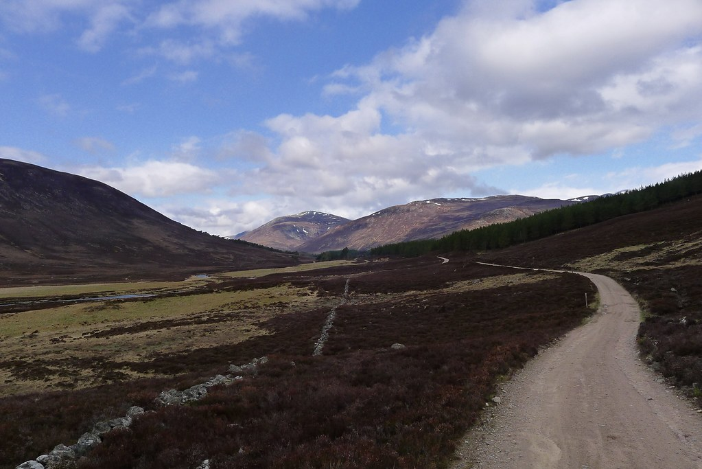 Cairngorms from Glen Lui