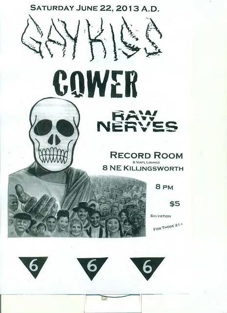 6/22/13 GayKiss/Cower/RawNerves
