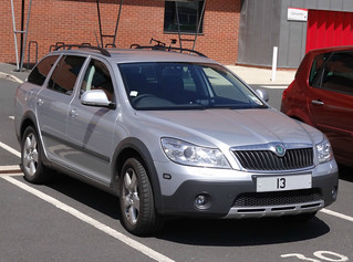 South Yorkshire Fire & Rescue Service Unmarked Skoda Octavia Scout Officers Car