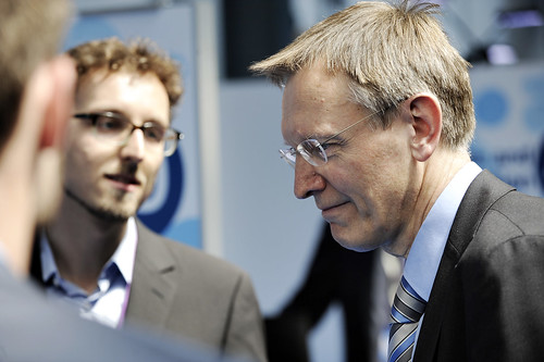 Janez Potocnik Is visiting the stands during the Green Week 2013
