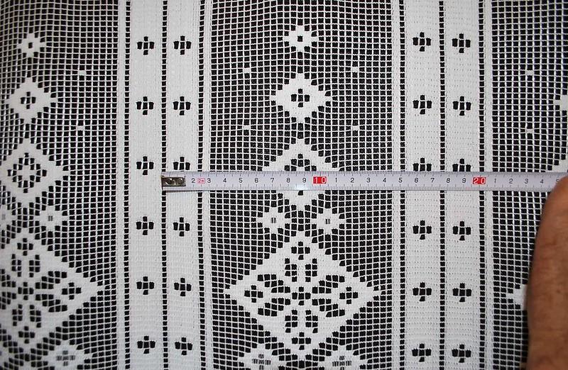 17 5 cm breite scheibengardinen in rustikaler optik 60 cm hoch ebay. Black Bedroom Furniture Sets. Home Design Ideas